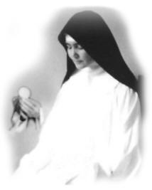 Nun receiving the Holy Eucharist