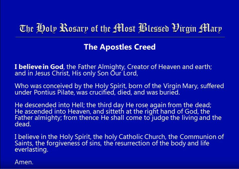 The Holy Rosary of the Blessed Virgin Mary Video