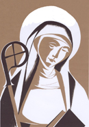 St. Colette by a Poor Clare Nun, Ty Mam Duw, Wales